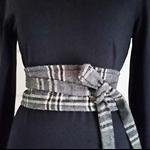 Wool Belt Obi Belt Reversible Belt Fabric Belt